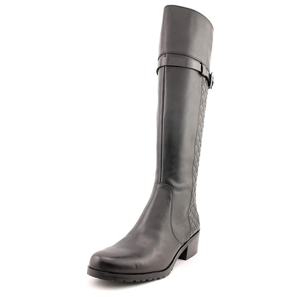 Tahari Killan Women Round Toe Leather Black Knee High Boot