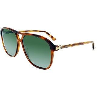 Gucci GG0016S-005-58 Brown Aviator Sunglasses