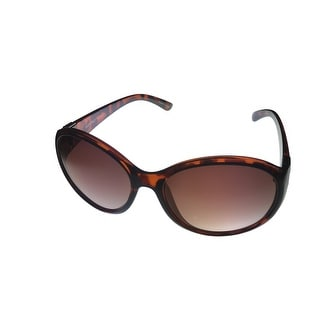 Ellen Tracy Womens Sunglass 538 4 Tortoise Round Fashion Plastic, Gradient Lens - Medium
