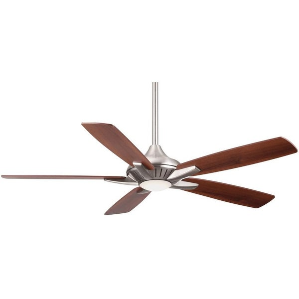 """MinkaAire Dyno 52"""" 5 Blade Indoor Ceiling Fan with Integrated LED Light and Remote"""