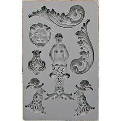 """Nautica #2 - Iron Orchid Designs Vintage Art Decor Mould 5""""X8"""""""