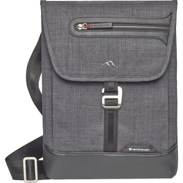 Shop Brenthaven Collins Vertical Messenger Tablet Laptop Bag for Surface  Pro 4 - Graphite - Grey - Free Shipping Today - Overstock - 25613969 970f93e880d6f