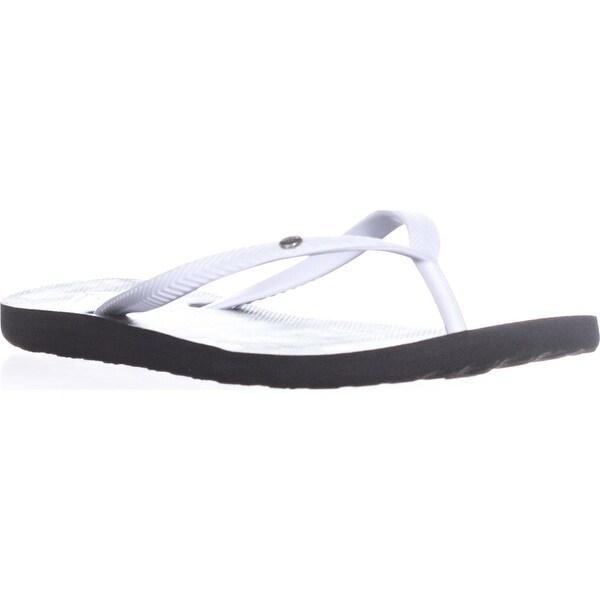 Roxy Bermuda Classic Flip Flops, Black/White/Black - 6 us / 36 eu