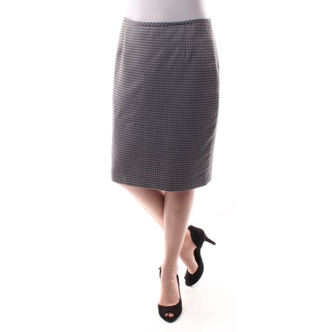 Womens Gray Geometric Wear To Work Skirt Size 6