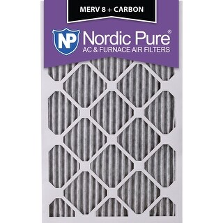 Nordic Pure 10x20x1 Pleated MERV 8 Plus Carbon AC Furnace Air Filters Qty 3