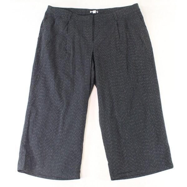 Eileen Fisher Blue Women's Size XL Textured Dress Pants Wool