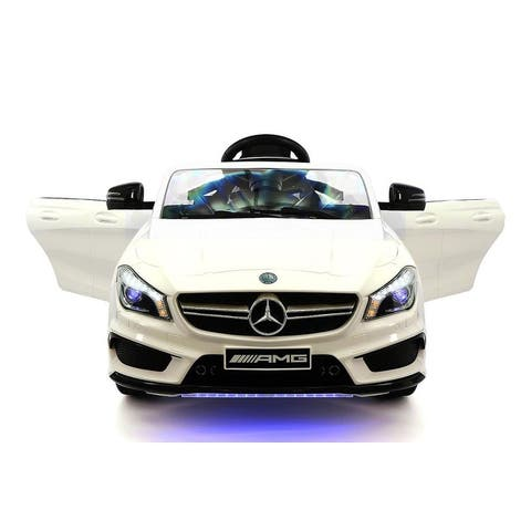 Mercedes Cla45 12v Kids Ride On Car With R C Paal Remote
