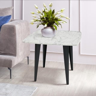 """Link to Soro 24"""" Square Italian Carrara White Marble Side Table with Metal Legs - 24""""L x 24""""W x 20""""H Similar Items in Kids' & Toddler Furniture"""