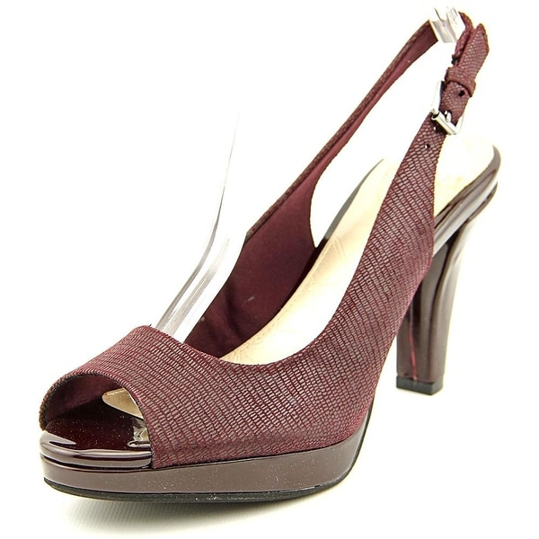 Giani Bernini Womens BENETTE Leather Peep Toe SlingBack Platform Pumps