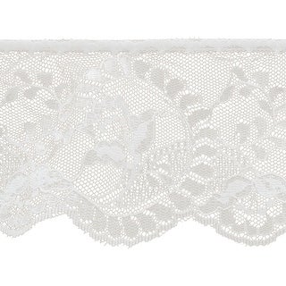 "Flower Cameo Lace 3-7/8""X12yd-White - White"