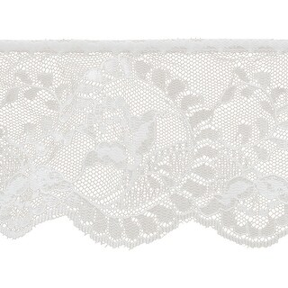 """Flower Cameo Lace 3-7/8""""X12yd-White - White"""