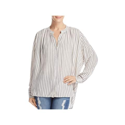 Splendid Womens Button-Down Top Woven Striped - XS