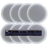 4 Room In-Ceiling Home Speaker System with Speaker Selector &