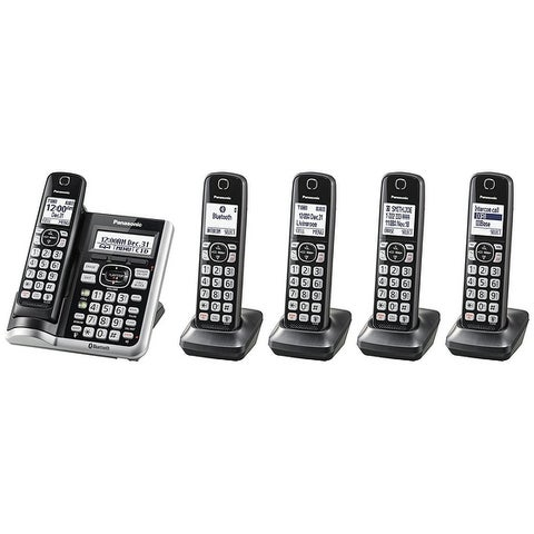 Panasonic KX-TGF575S Link2Cell BluetoothCordless Phone with Voice Assist and Answering Machine - 5 Handsets (Refurbished)