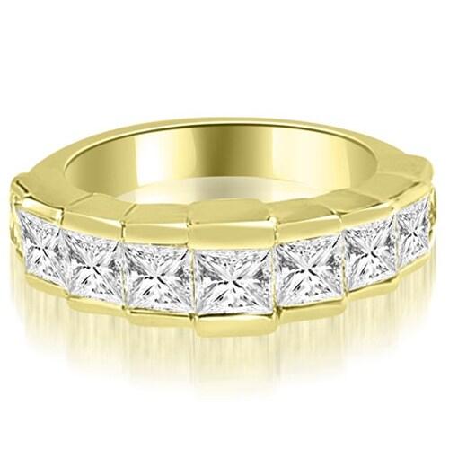 3.00 cttw. 14K Yellow Gold Princess Diamond 9-Stone Wedding Band