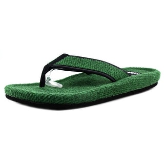 Sanuk Fur Real Classic Men Open Toe Canvas Green Thong Sandal