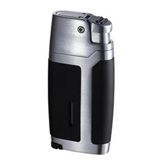 Visol VLR400802 Bron Matte Black and Brushed Chrome Lighter