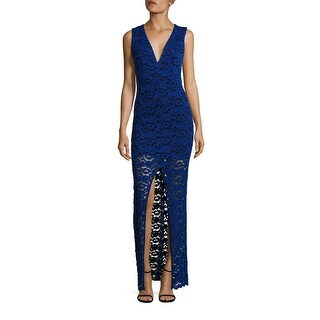 Alice & Olivia Kahlo Front Slit Lace Cocktail Evening Dress