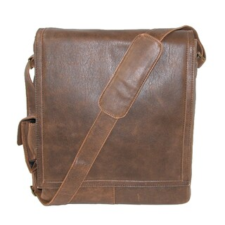 Scully Men's Leather Distressed Aerosquadron Man Bag with Laptop Sleeve