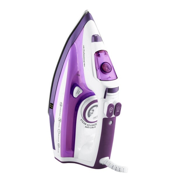 ZZ ES322-P 1500-Watt Steam Iron with Stainless Steel Soleplate, Purple