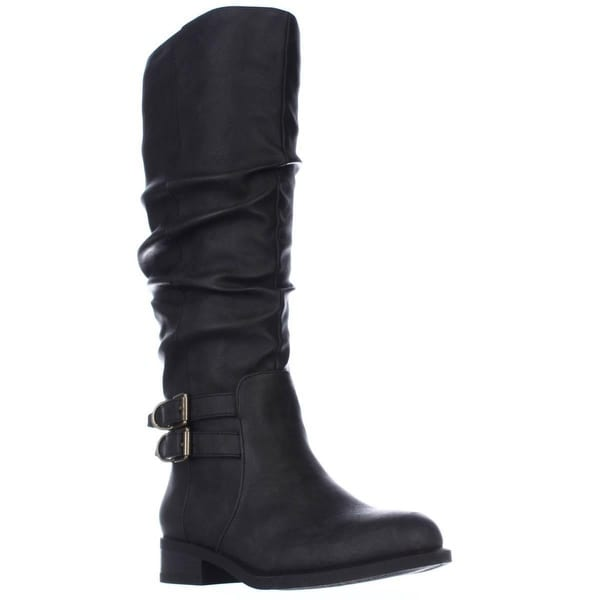 AL35 Jasmin Slouch Riding Boots, Black