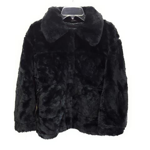 Urban Republic Faux Fur Jacket, Black, Small
