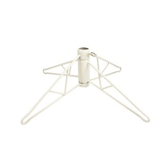 White Metal Christmas Tree Stand For 4' - 4.5' Artificial Trees