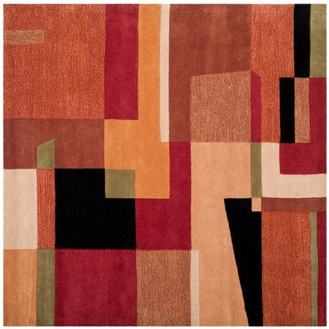 Safavieh Handmade Rodeo Drive Memke Mid-Century Abstract Wool Rug