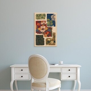 Easy Art Prints Ema Seizan's 'Japanese Textile Design IV' Premium Canvas Art