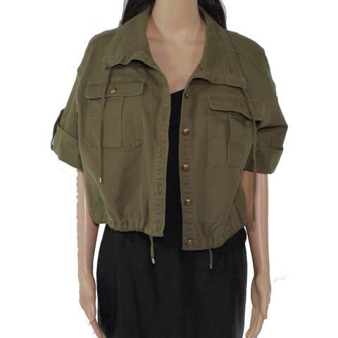 Lauren by Ralph Lauren Women's Jacket Olive Petite Denim