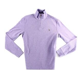 Polo Ralph Lauren NEW Purple Mens Size Small S Quarter Zip Sweater