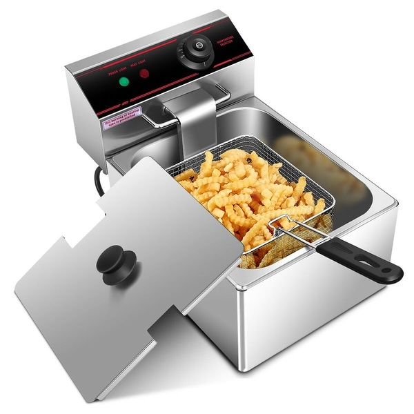 Gymax 2500W Deep Fryer Electric Commercial Tabletop Restaurant Frying