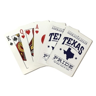 Texas State Pride - Blue on White - LP Artwork (Poker Playing Cards Deck)