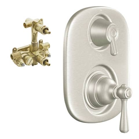 Moen Kingsley 3-Function Moentrol Trim With Transfer Valve And 1/2-In CC Rough-In - 7.31 x 8.69 x 4.25 - 7.31 x 8.69 x 4.25