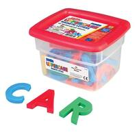 Educational Insights Jumbo Uppercase Magnetic Letters in Tub, 2-1/2 Inches, Set of 42