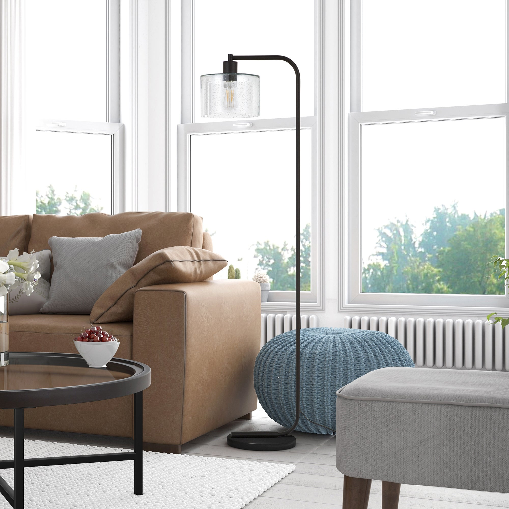 Shop Cadmus Industrial Farmhouse Metal Floor Lamp Optional Finishes Overstock 23145312