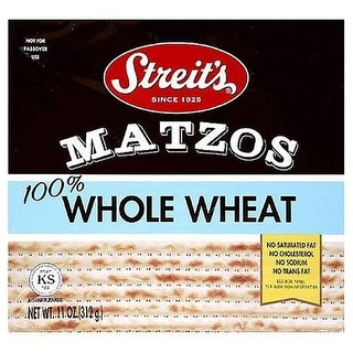 Streit's Matzo; Whole Wheat - (Case of 12 - 11 oz)