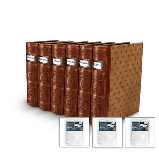 Bellagio-Italia DVD/CD Storage Tuscany Cognac Binder 6-Pack with 3 Insert Sheets|https://ak1.ostkcdn.com/images/products/is/images/direct/b5877be1150f4a6061ad6f44e82df2536137ee77/Bellagio-Italia-DVD-CD-Storage-Tuscany-Cognac-Binder-6-Pack-with-3-Insert-Sheets.jpg?impolicy=medium