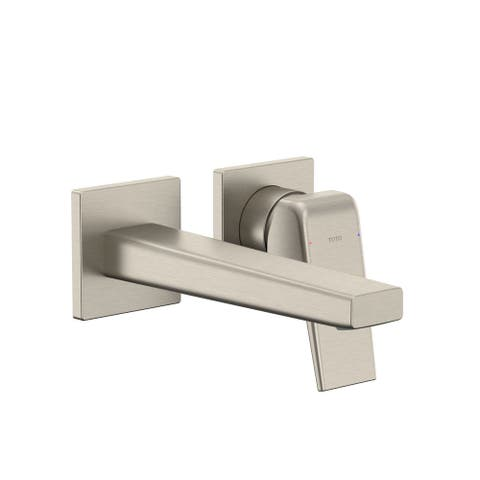 TOTO TLG10307U GB 1.2 GPM Wall Mounted Mini-Widespread Bathroom Faucet - Brushed Nickel