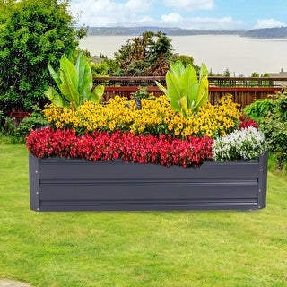 Link to Outsunny Galvanized Raised Metal Garden Bed Similar Items in Raised Beds
