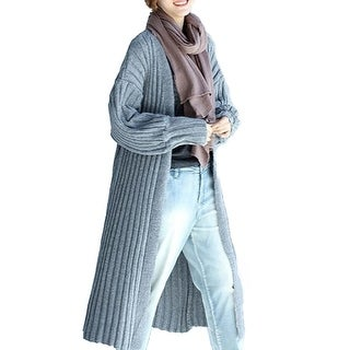 Casual Long Cable Knit Cardigan