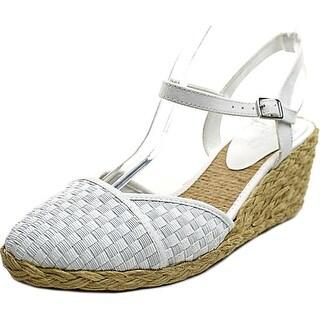 Lauren Ralph Lauren Capricia Open Toe Synthetic Wedge Heel
