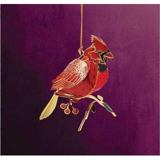 "2.5"" Collectible Keepsakes Perched Cardinal Christmas Ornament"