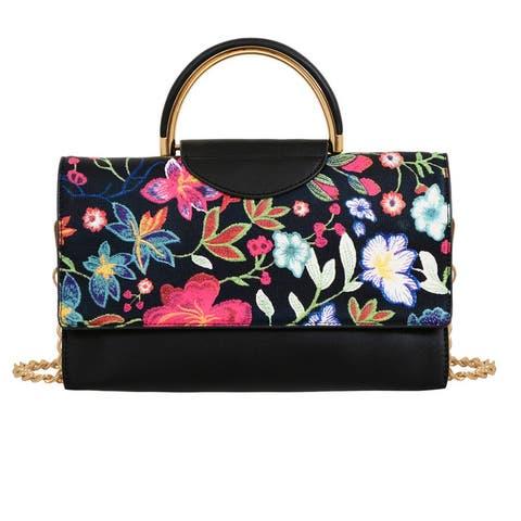 Mellow World Primerose Floral Crossbody Purse Large Shoulder Bag