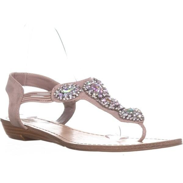 Madden Girl Tuzie Sequin Slip On Sandals , Blush - 8.5 us