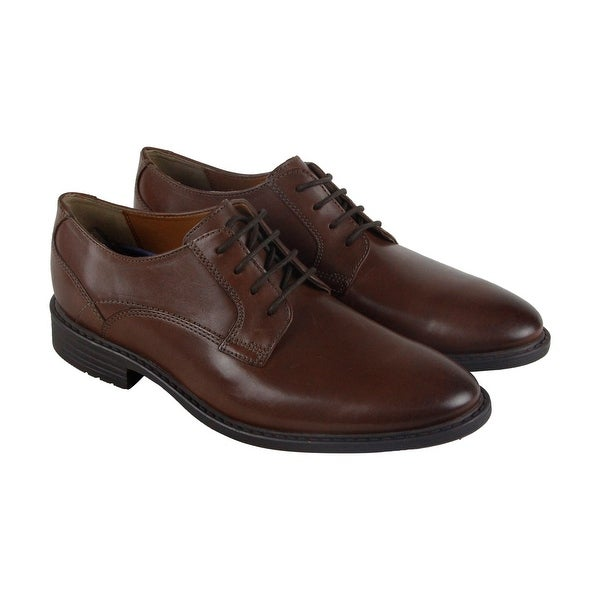 Bostonian Garvan Plain Mens Brown Leather Casual Dress Lace Up Oxfords Shoes