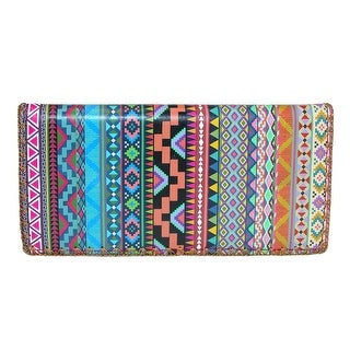 Mlavi Women's Aztec Print Slim Fold Checkbook Wallet - One size
