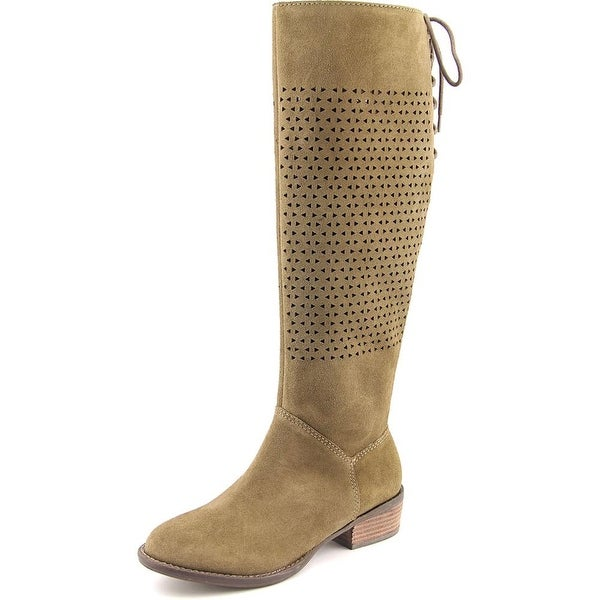 Very Volatile Brando Women Round Toe Suede Knee High Boot