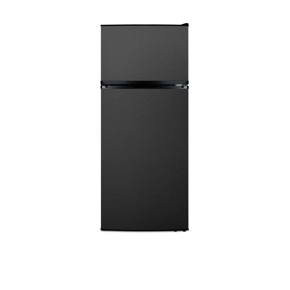 """Summit  FF1161  24"""" Wide 10.3 Cu. Ft. Energy Star Rated Top Mount Refrigerator with Stainless Steel Construction with Fingerprint (Black Stainless"""