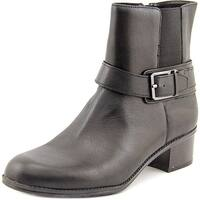 Bandolino Womens CAVEN Leather Almond Toe Ankle Chelsea Boots